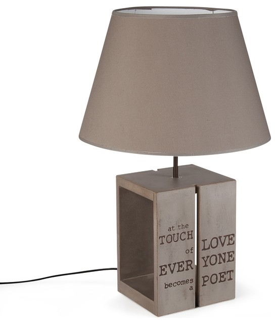 palette lampe avec abat jour bois h52 5cm contemporain. Black Bedroom Furniture Sets. Home Design Ideas