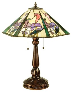 hex traditional tiffany table lamp x 30805 traditional table lamps. Black Bedroom Furniture Sets. Home Design Ideas