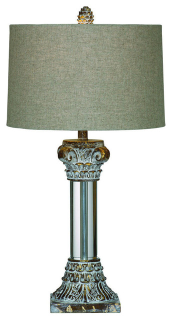 ... in Antique Gold Lucite - Contemporary - Table Lamps - by Beyond Stores
