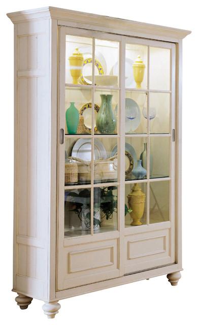 American Drew Camden-Light Bookcase/China Feet in White ...