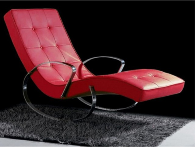 Christiane indoor rocker chaise lounge rc1002p red for Chaise longue tours