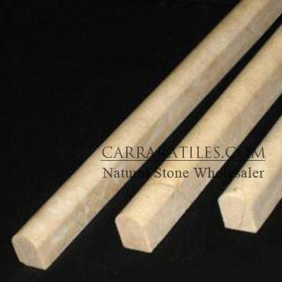 Crema Marfil Marble Bullnose Pencil Molding Polished