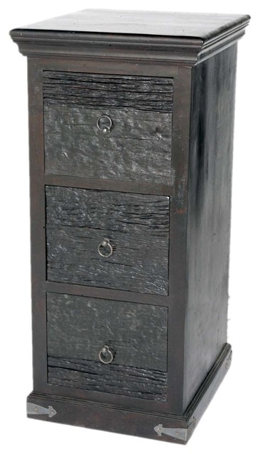 Sleeper Wood 3 Drawer Filing Cabinet - Filing Cabinets - by Meva