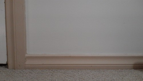House is modern but skirting boards need an update re paint