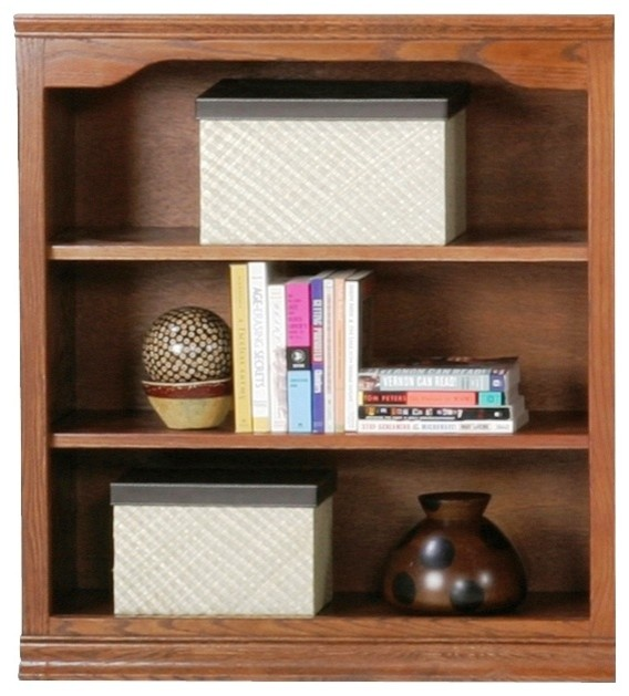 Classic Oak 36 in. Open Bookcase w Adjustable Shelves (Unfinished ...