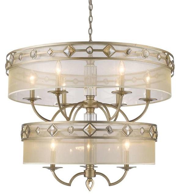 2 Tiers Bowl Lighting Chandeliers