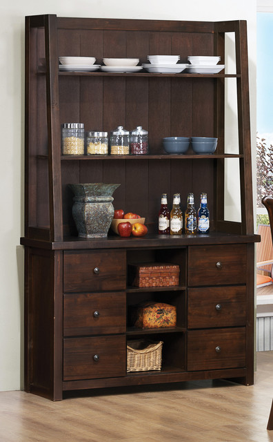 Garrison Burnished Grey Buffet With Hutch from Standard ...