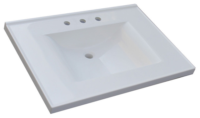 Modern Cultured Marble Vanity Tops : Premier wave bowl cultured marble vanity top