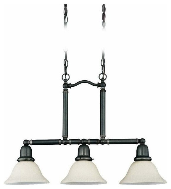 Pendant lighting traditional kitchen : Light island pendant heirloom bronze traditional kitchen lighting by plfixtures