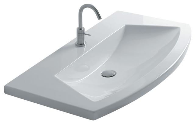 ... Inset Bathroom Sink 39.4