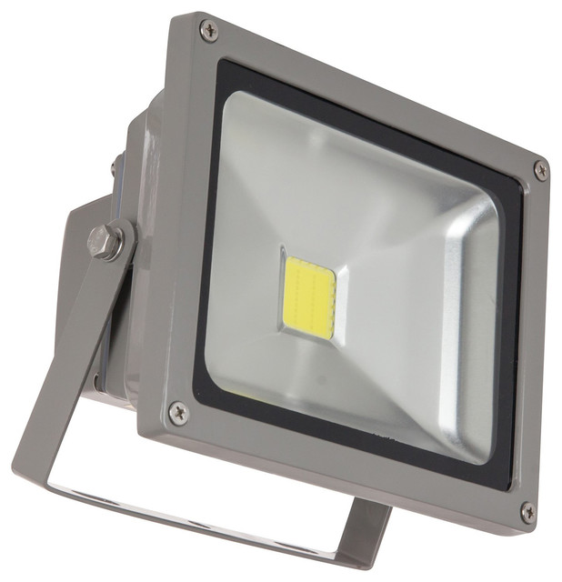 20w led outdoor flood light gray traditional compact. Black Bedroom Furniture Sets. Home Design Ideas