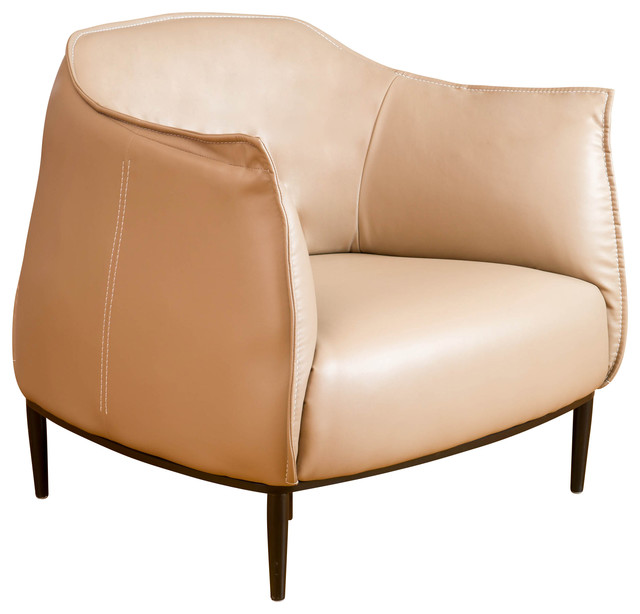 Tan Leather Accent Chair: Adelina Leather Accent Chair, Tan