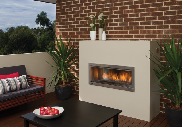 J Series by European Home  Modern Outdoor Gas Fireplace