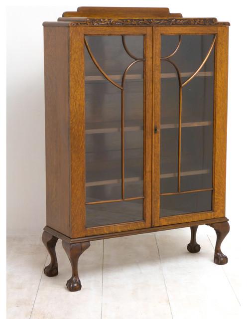 Art deco oak cabinet arts crafts storage cabinets for Arts and crafts storage cabinet