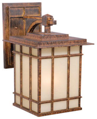 Manor House Aged Walnut Outdoor Wall Sconce Traditional