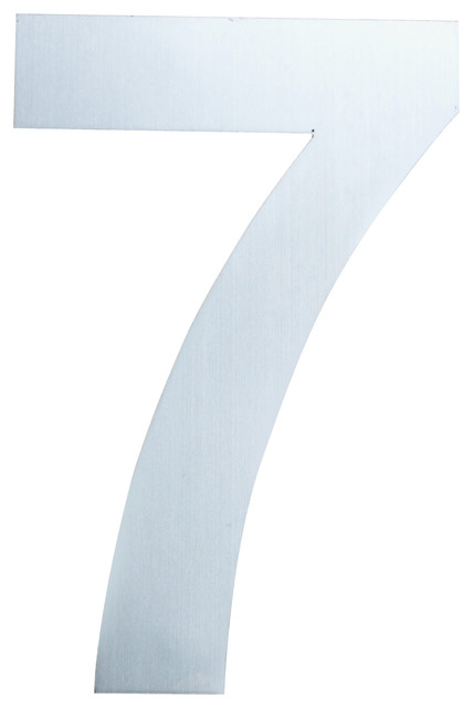 Qt large modern house number 8 inch brushed stainless for Big modern house numbers