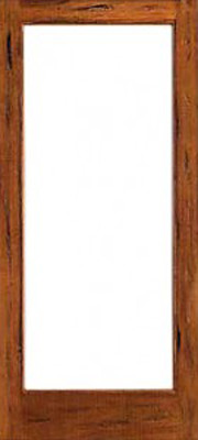 Rustic 1 lite interior solid ig glass single door for Mediterranean interior doors