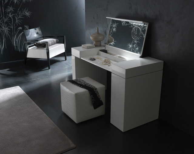 Nightfly Dressing Table In White Modern Bedroom Makeup Vanities N