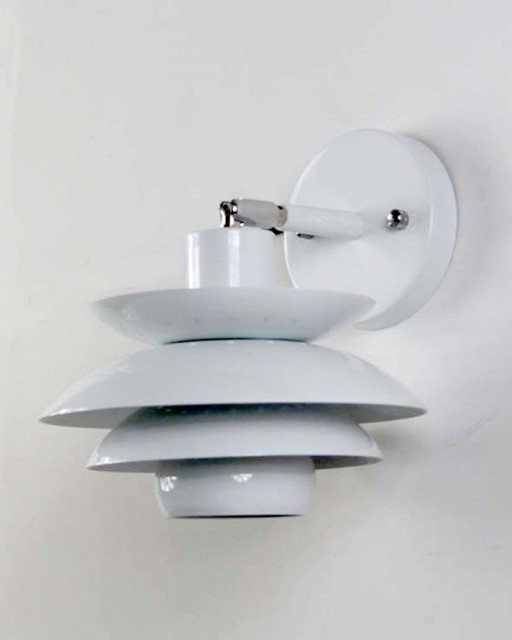 Modern Wall Sconces For Hallway : Modern Style Hallway White Wall Lighting - Modern - Wall Sconces - other metro - by ParrotUncle