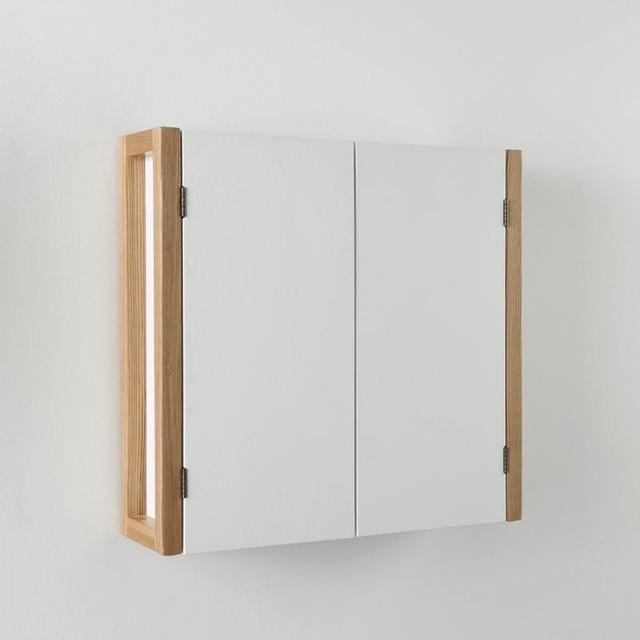 Meuble haut de salle de bain 2 portes suspendr contemporain placard et tag re de salle Placard de salle de bain