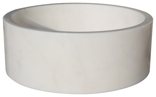 White Stone Vessel Sink : ... Stone Vessel Sink, White Marble - Traditional - Bathroom Sinks - by