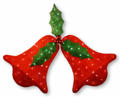 45 In Red Bell With Holly Leaves Christmas Decor With 91