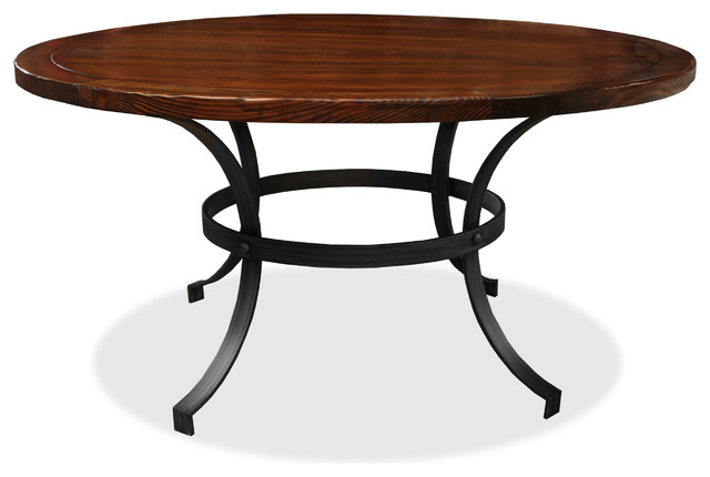 wooden round dining table cognac 60 diameter rustic dining tables