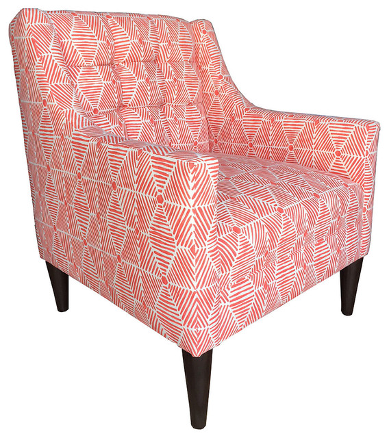 Bronson Accent Chair Coral Contemporary Armchairs And