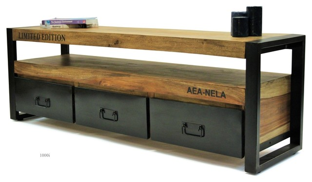 Meuble tv industriel meubles fran ais for Meuble de tv industriel