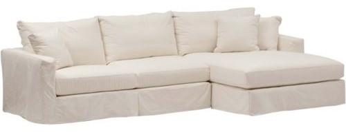 Jenna slipcover sectional contemporary sectional sofas for Sectional sofa covers for sale