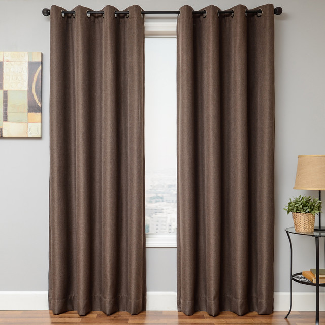 ... Panel: Textured Blackout - Contemporary - Curtains - by Blindsgalore