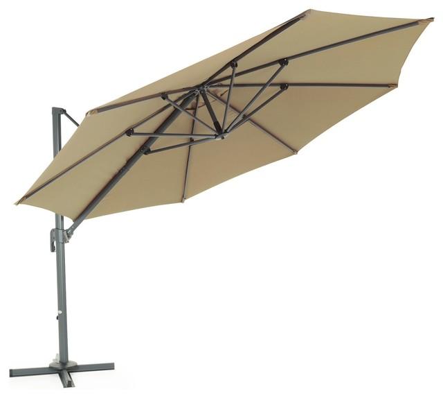 kimee parasol d port 3 5m taupe contemporain parasol par alin a mobilier d co. Black Bedroom Furniture Sets. Home Design Ideas