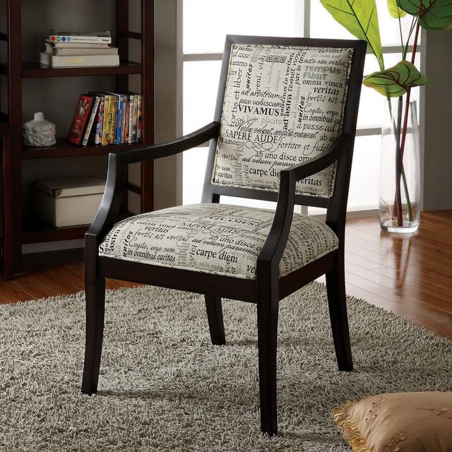 Furniture Of America Brawzie Script Printed Fabric