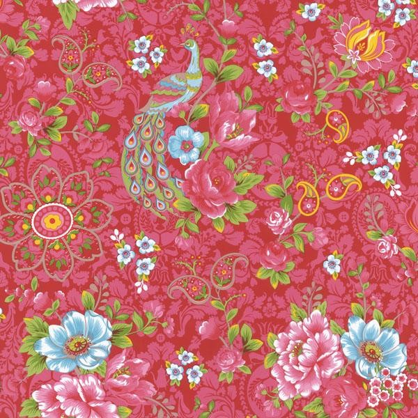 Magenta Paisley Floral - Modern - Wallpaper - by Wallpaper Warehouse