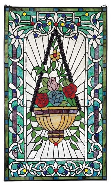 Le fenetre des fleurs stained glass traditional for Fenetre decorative