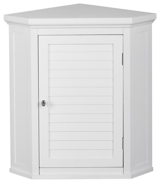 Slone Corner Wall Cabinet With 1 Shutter Door - Traditional - Bathroom Cabinets And Shelves - by ...