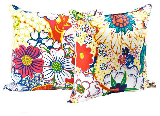 Decorative Pillows Retail : SOLD OUT! Throw PIllows in Fabric by Josef Frank Stockholm - $650 Est. Retail