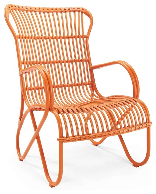 Rizza Outdoor Chair, Orange - Eclectic - Outdoor Lounge Chairs - by Grandin Road