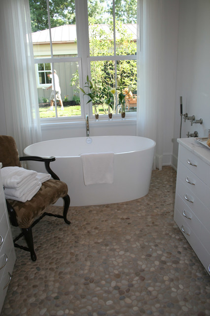 Island Stone Pebble Bathroom Floor Modern Bathroom Tile Pictures To