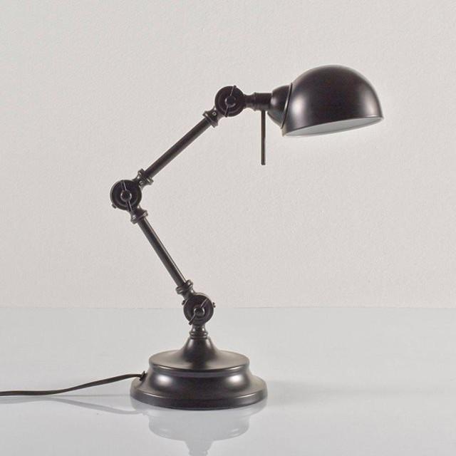 Lampe de bureau m tal style industriel kikan modern for Lampe a poser style industriel