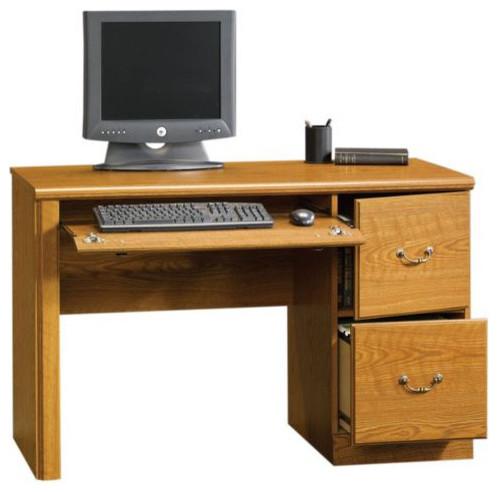 Transitional Desks Hutches Sauder Orchard Hills Computer Desk Carolina Oak