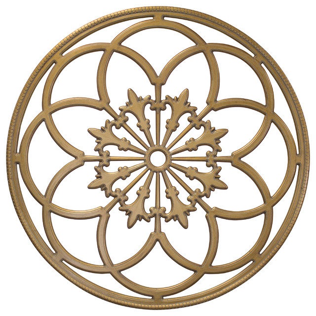 Gilded Round Wall Decor : Kate and laurel ondelette quot diameter ornate wood round
