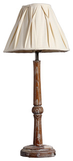 cottage style wooden candlestick interior home table lamp rustic table la. Black Bedroom Furniture Sets. Home Design Ideas