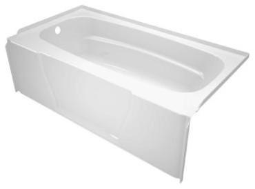 Asb Firenze 5 Foot Left Drain Soaking Tub White Modern