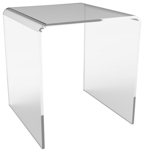 Waterfall acrylic side table contemporary nightstands for Waterfall design nightstand