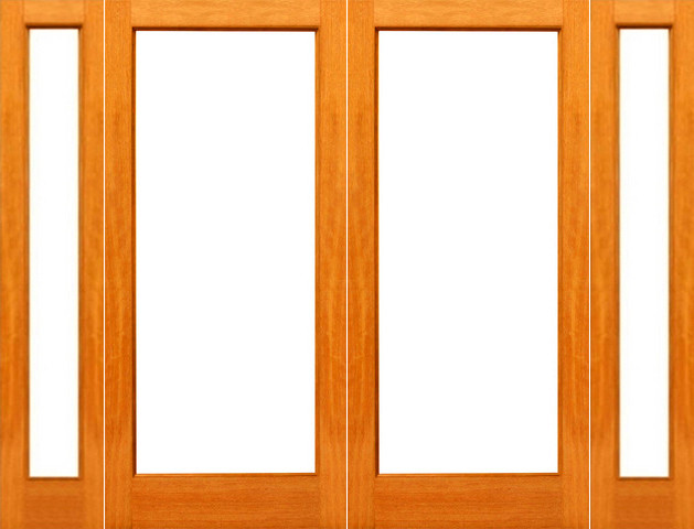 Prehung red oak 1 lite patio red oak wood ig glass double for Double door with side windows