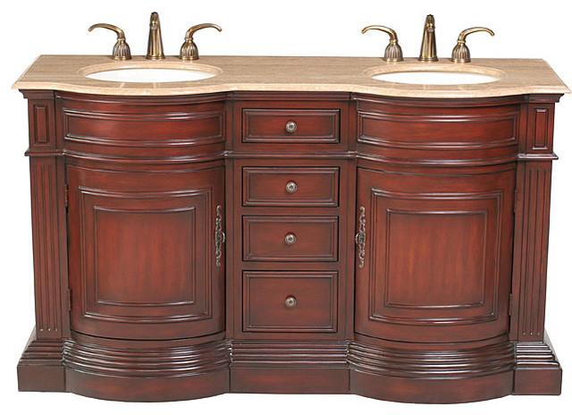 Stufurhome Catherine 39 62 Inch Double Sink Vanity Contemporary Bathroo