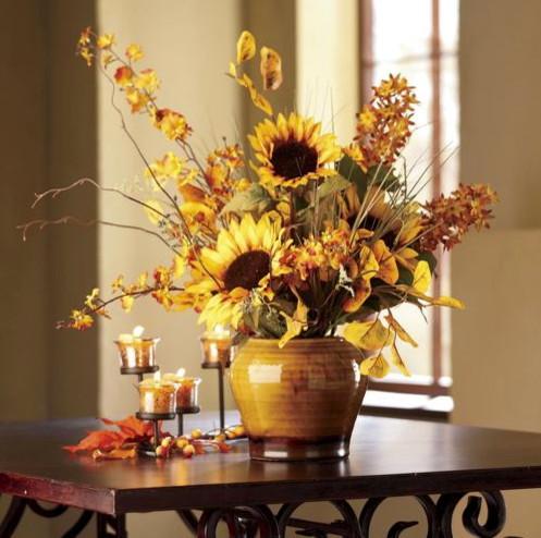 Sunflower arrangement contemporary plants by through
