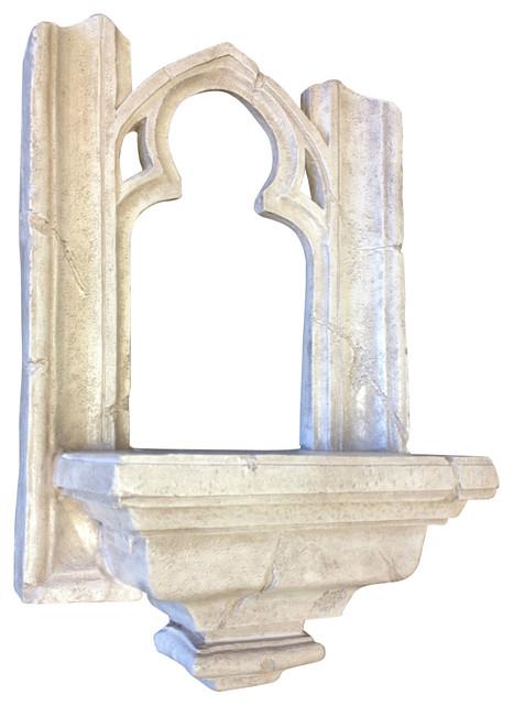 Cathedral of notre dame gothic window shelf moderne statue et d co de jardin par casa de arti - Statue deco moderne ...