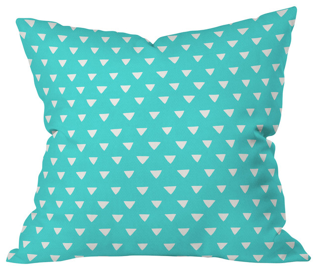 Teal Green Decorative Pillows : Bianca Green Geometric Confetti Teal Throw Pillow - Contemporary - Decorative Pillows